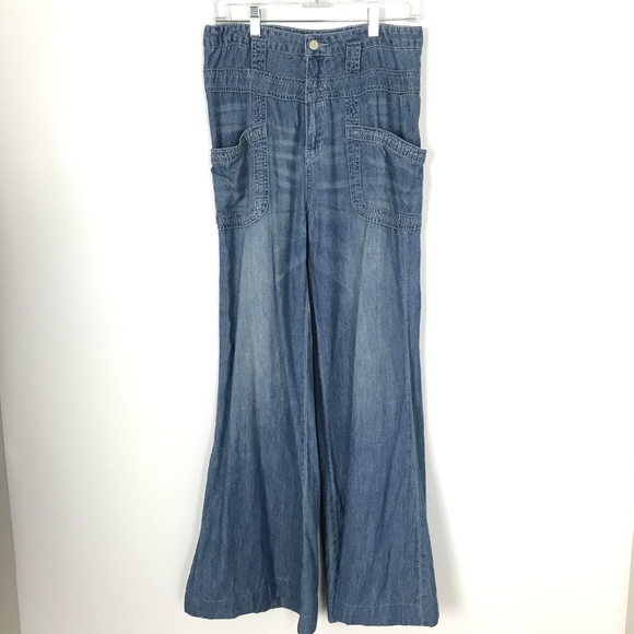 Pilcro and the Letterpress Denim - Pilcro High Waist Flare Jeans Lightweight Size 28